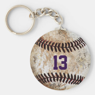 Customizable Cheap Baseball Keychains, YOUR TEXT Basic Round Button Keychain