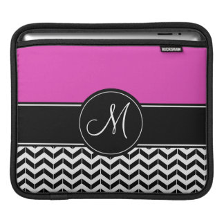 Customizable Chevron Hot Pink iPad Sleeve