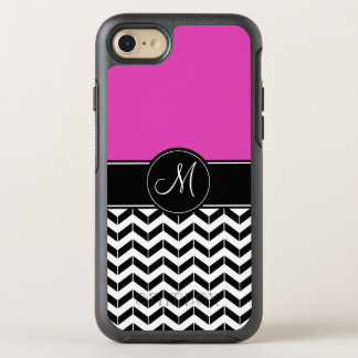 Customizable Chevron Hot Pink OtterBox Symmetry iPhone 7 Case