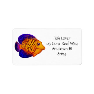 Customizable Chevron Tang Reef Fish Label