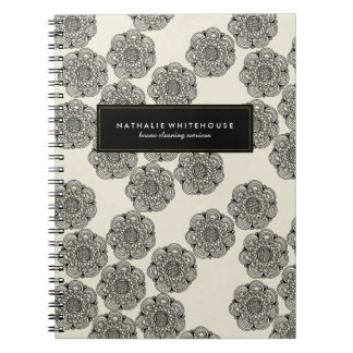 Customizable Chic Floral Note Book