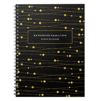 Customizable Chic Gold Confetti Note Book