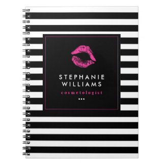 Customizable Chic Hot Pink Lips Note Book