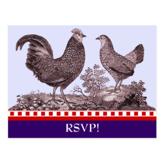 Customizable Chicken BBQ RSVP Response Card
