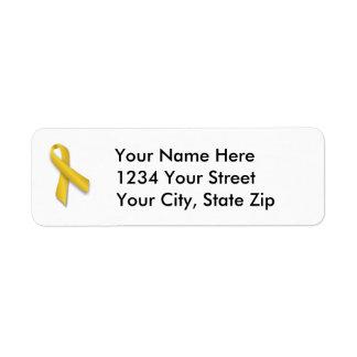 Customizable Childhood Cancer Address Label