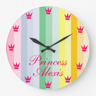CUSTOMIZABLE CHILD'S PRINCESS CLOCK