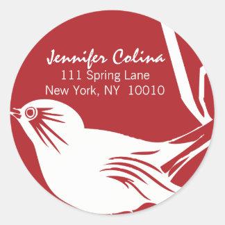 Customizable Chirping Bird Stickers