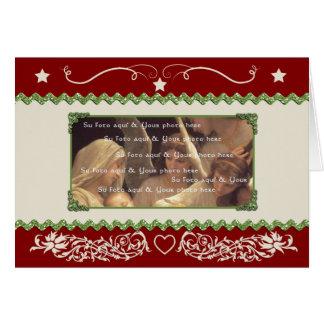Customizable Christmas card template