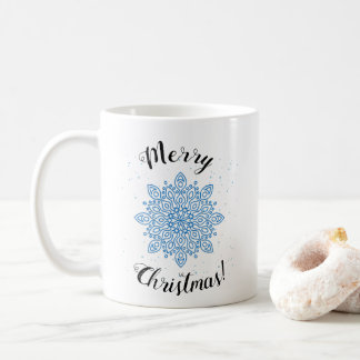 Customizable Christmas name mug  with snowflake