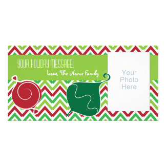 Customizable Christmas Photo Card with Ornaments