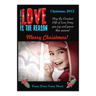 Customizable Christmas Photo Greeting Card 5x7 Custom Announcement