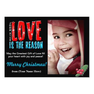 "Customizable Christmas Photo Greeting Card 5x7 5"" X 7"" Invitation Card"