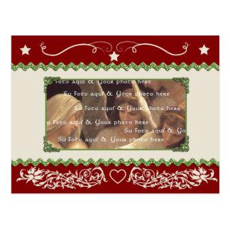 Customizable Christmas postcard template