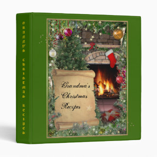 (Customizable) Christmas Recipes 3 Ring Binders