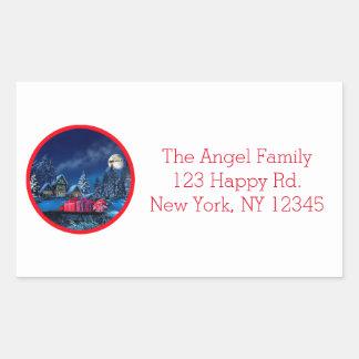 Customizable Christmas Winter Scene Stickers