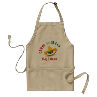 Customizable Cinco de Mayo May 5 Fiesta Standard Apron