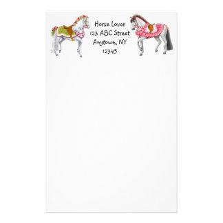 Customizable Circus Horses Stationery
