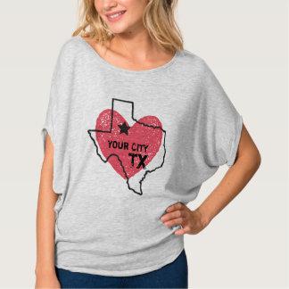 Customizable City, Texas State T-shirt
