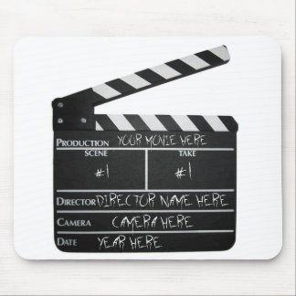 Customizable Clapboard Slate movie filmmaker film Mouse Pad