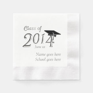 Customizable Class of 2014 Graduation Disposable Napkin