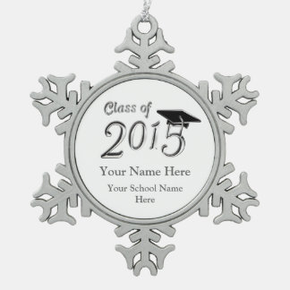 Customizable Class of 2015 Pewter Snowflake Ornament