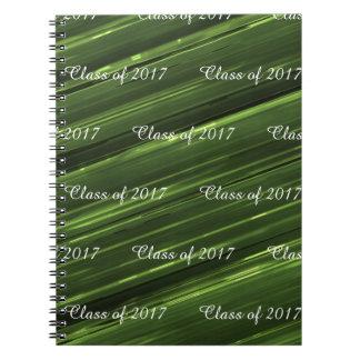 Customizable class of 2017 emerald green metal spiral notebook