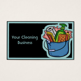 Customizable cleaning business card template