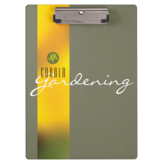 Customizable clipboard with yellow tulips