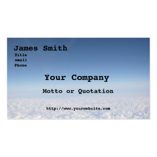 Customizable Clouds Business Card