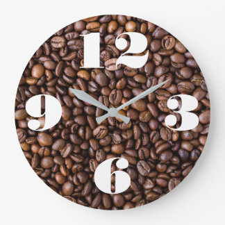 Customizable Coffee Beans. Large Clock