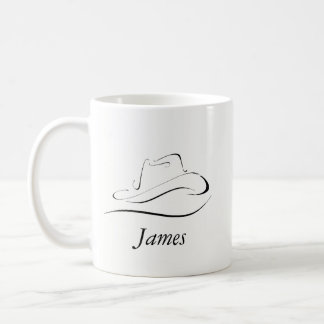 Customizable Coffee Mug With Cowboy Hat
