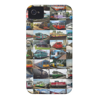 Customizable collage of locomotives iPhone 4 cases