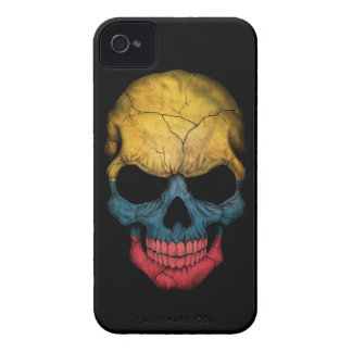 Customizable Colombian Flag Skull iPhone 4 Cover