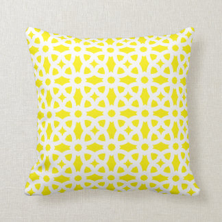 CUSTOMIZABLE COLOR - Classic Ornaments - Yellow Throw Pillow