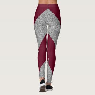 Customizable Color Heather Grey Chevron Leggings