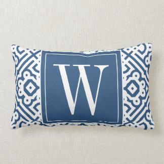 Customizable Color! Modern Labyrinth Monogram Lumbar Pillow