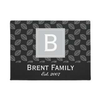 Customizable Color Nature Door Mat, Black Gray Doormat