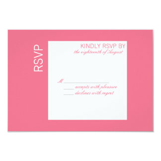 Customizable Color of The Year RSVP Card Custom Invites