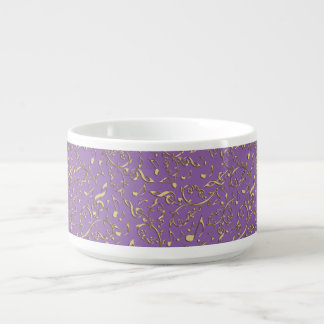 Customizable Color with Gold Music Notes Chili Bowl
