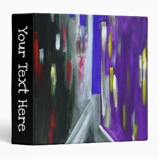 Customizable Colorful Modern City Abstract Urban Vinyl Binder