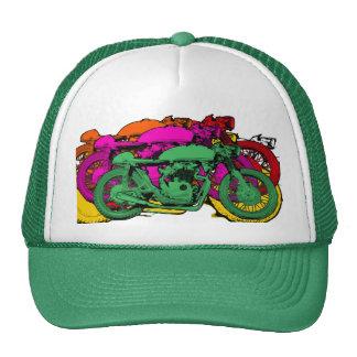 Customizable Colorful Pop Art Motorcycles Trucker Hat