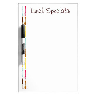 Customizable colorful untensil dry erase board