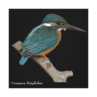 Customizable Common Kingfisher Canvas Print