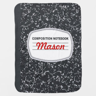 Customizable Composition Notebook Baby Blanket