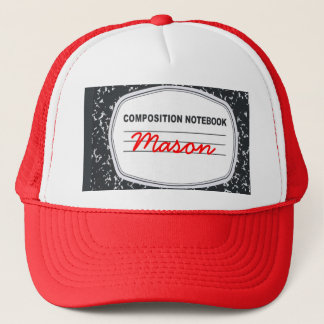 Customizable Composition Notebook Trucker Hat