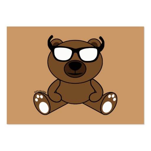 Customizable Cool brown bear with sunglasses Business Card
