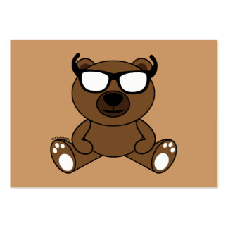 Customizable Cool brown bear with sunglasses Pack Of Chubby Business Cards