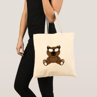 Customizable Cool brown bear with sunglasses Tote Bag
