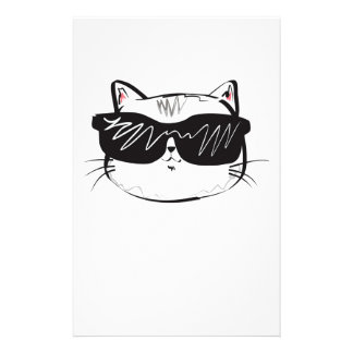 Customizable Cool Cat Stationery