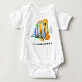 Customizable Copperband Butterfly Fish Infant Cree Baby Bodysuit